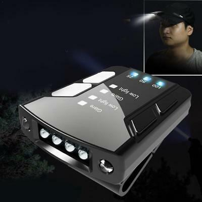 USB Rechargeable 4/6LED Clip-on Cap Hat Head Light Torch Hiking Fishing Headlamp