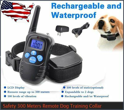 Us Rechargeable 100Lv Lcd Electric Shock E-Collar Remote Dog Training Anti-Bark