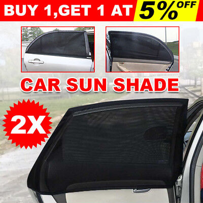 2x Universal Sun Shades Rear Side Seat Car Window Socks Kids UV Protection Mesh