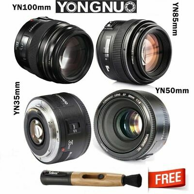 Yongnuo YN35mm YN50mm YN85mm YN100mm EF AF/MF Prime Fixed Lens for Canon EOS