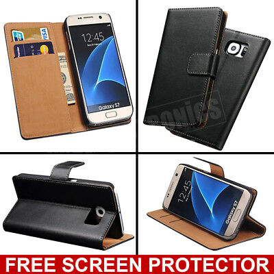 Case for Samsung Galaxy S9 S8 Plus S7 Cover Flip Wallet Leather Magntic Luxury