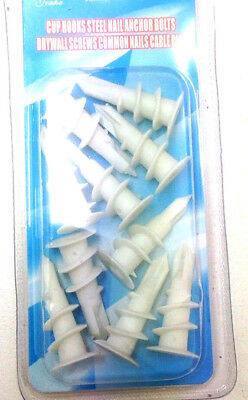 10pcs Plaster board walls Screws Wallmate Wall Mate Nylon Plug Anchor