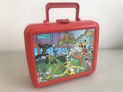 Vintage 1994 Aladdin Red Power Rangers Holographic Graphic Lunchbox