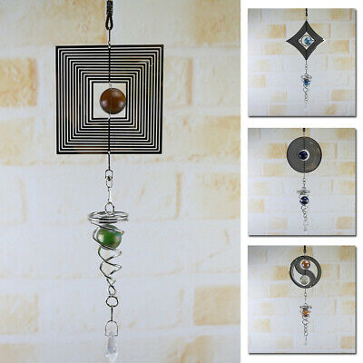 Hanging Wind Chimes Spinner Spiral Rotating Crystal Ball/Yard Decor Windchimes