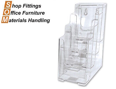 4 Tier 1/3 Dl Pamphlet Acrylic Plastic Display Brochure Holder Stand