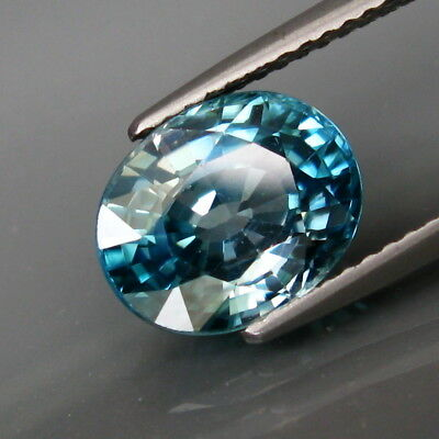 4.42Ct.Ravishing Color&Clean Ultra Lustrous Natural BIG Blue Cambodian Zircon