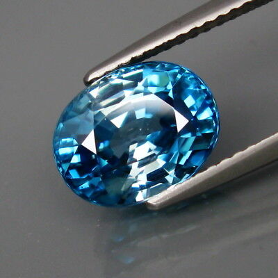 4.75Ct.Ravishing Color! Ultra Lustrous Natural BIG Blue Cambodian Zircon
