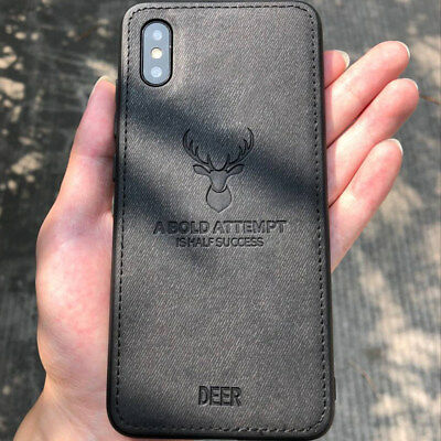 Deer Modello pelle Trama Telefono Custodia Cover per Apple IPHONE x 8 6s 7 più 6
