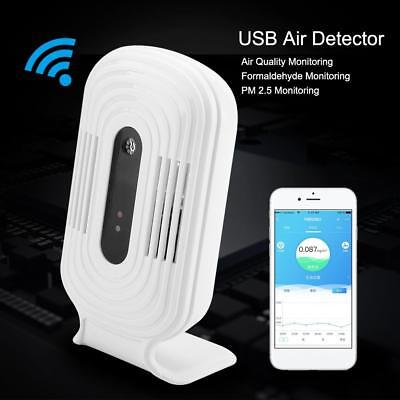 USB Wifi Air Quality Tester Smart Monitor Detector PM2.5 HCHO&TVOC& CO2 Analyzer
