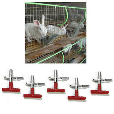 10 Pcs Nipple Waterer Drinkers Water Rabbit Guinea Pig Ferret Rat Mouse FeederÑÑ