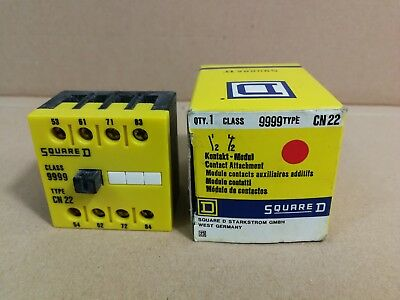 Square D Control Relay Basic Contacter Class 9999 Type. CN 22 *