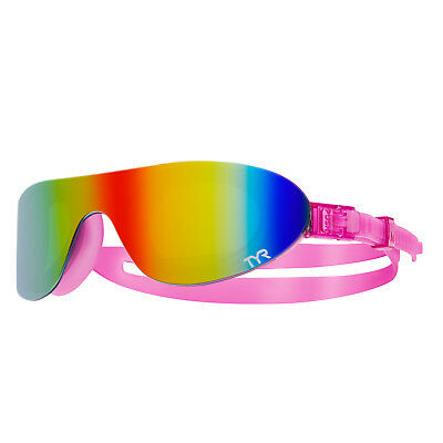 Tyr Mirrored Swimshades For Outdoor Water Sports Rainbow Pink