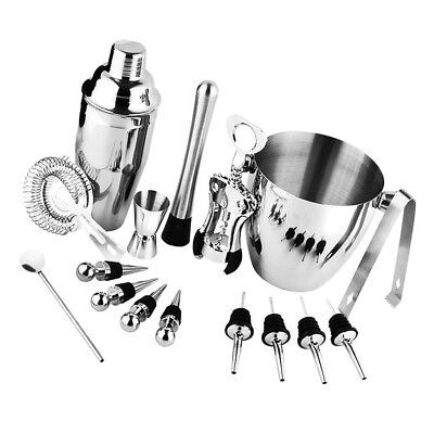 16pcs Cocktail Shaker Accessories Set Barware Bar Mixing Making Kit Tool