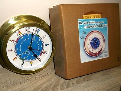 hermle brass finish ships type Clock with low and high tide timer Nautical