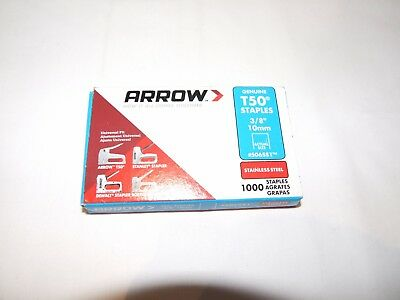 Arrow T50 Rust Ressitant Stainless Steel Staples - Pack of 1000