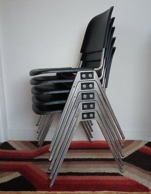 Mid Century Don Albinson For Knoll 1601 Stacking Chairs,  Margate, Kent.