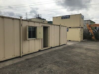 Site Cabin Office Portable Steel Building Anti Vandal 32x10