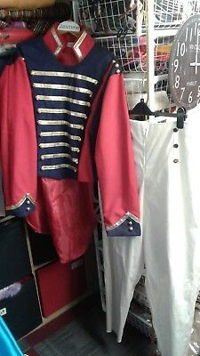 Lovely Prince Charming Or Hussar/soldier Costume - Tailcoat And Trousers