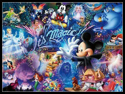 DIY Drill 5D Diamond Painting Disney Animals Cross Craft Decoration Picture