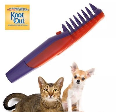 Ultimate Knot Out Electric Pet Grooming Flea Comb Dog Pet Hair Trimmer Tangle Uk