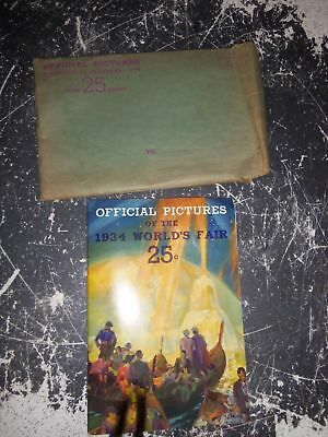 VINTAGE OFFICIAL PICTURE BOOK OF 1934 CHICAGO WORLDS FAIR w Original Envelope