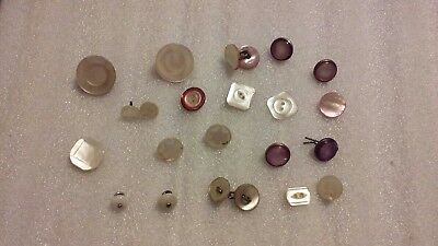 Vintage Lot of 22-Various Size and Shapes Antique Mother of Pearl Shell Buttons