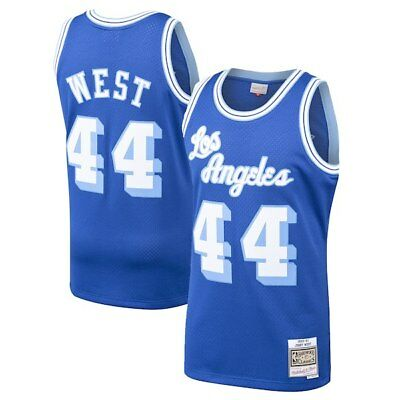9a7bf70e8d4 JERRY WEST Los Angeles Lakers Mitchell  Ness Throwback Swingman Jersey  44  BLUE