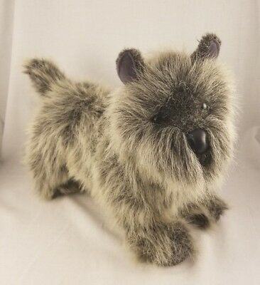 "Vintage 14"" Douglas Cairn Terrier Gray Dog Plush Stuffed Animal"