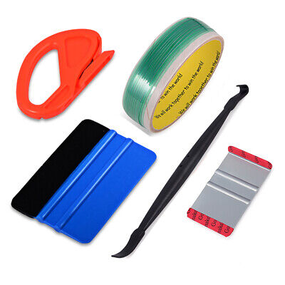 Micro Squeegee Knifeless Cut Tape Car Wrapping Tools Vinyl Graphic 10 Blades New