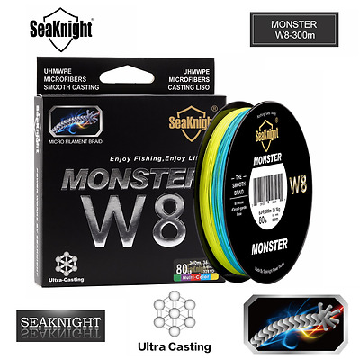 SeaKnight 300M 328Y Super Strong Monster 8 Strands Braided Fishing Line Wide A