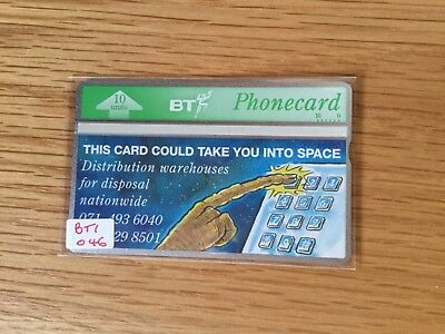 BT Phonecard, BTI046 This Card Could Take You into Space, unused