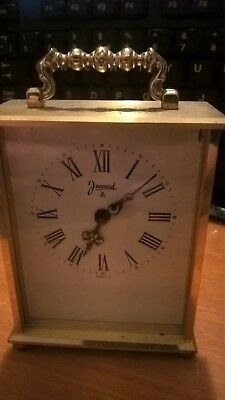 French Jaccard brass carriage clock (8 day) - spares and repairs