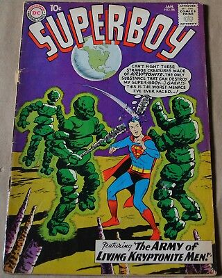 SUPERBOY #86 (DC, 1961) 4th legion of superheroes.First appearance of Pete Ross.