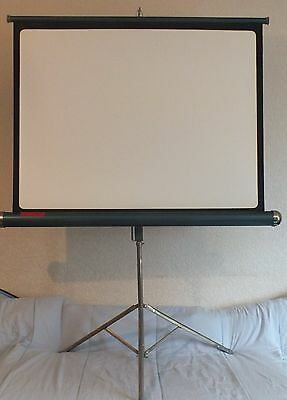 "VINTAGE 1960's HUNTER STARLIGHT PROJECTION SCREEN. 27"" x 36""."