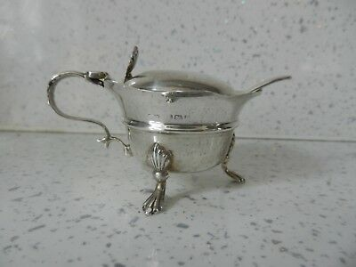 Superb Antique Solid Silver Mustard Pot