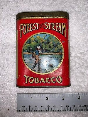 Antique Forest And Stream Tobacco Pocket Tin
