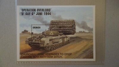 Briefmarkenblock   Grenada 1994 D-Day
