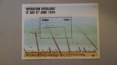 Briefmarkenblock   Uganda 1994 D-Day