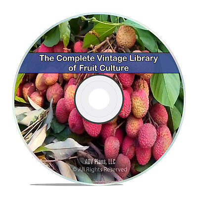 157 Classic Books on Fruit Culture, Grow, How to, Recipes Garden PDF CD DVD H93