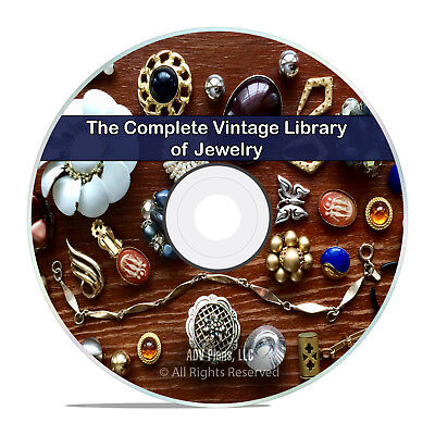 75 Classic Books on Jewelry, Catalogs, How to Make Gold Silver Stones DVD H99