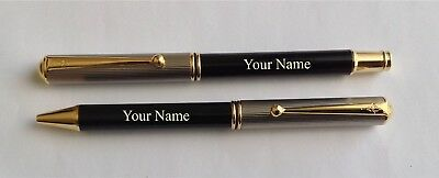 Personalised Fountain and Ball Point pen set