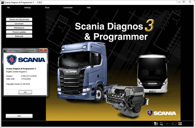 2018 new Scania SDP3 2.38.2 Diagnos & Programmer Dealer diagnostic program