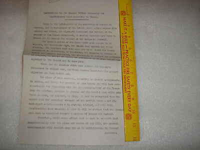 World War 1 Document-Lord Kitchener's Bef Orders To Sir John French