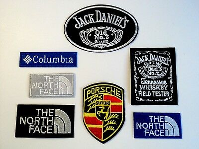 1x Top Brand Logo Patches Embroidered Cloth Applique Badge Iron Sew On Fashion
