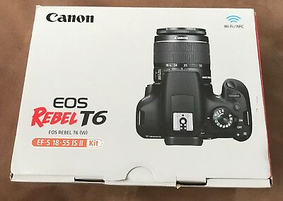 BRAND NEW!    Canon EOS Rebel T6 Digital Camera Kit with EF-S 18-55mm IS II Lens