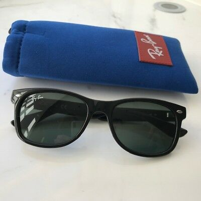 6fc45dfb7 CHILDREN'S RAY BAN Wayfarer Junior Sunglasses, Black, RJ9052S 100/71 ...