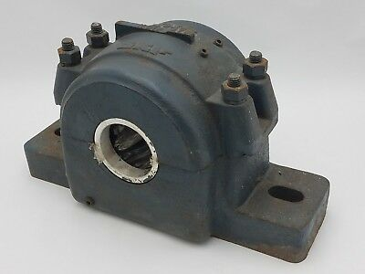 """SKF Pillow Block Bearing 2-3/8"""" Bore Dia SAF 615N Housing 2 Hole Mount Used 303Z"""