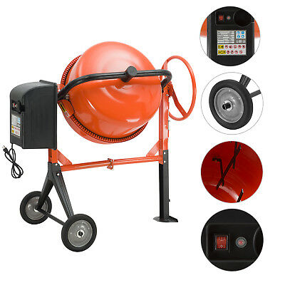 5cuft-1/2HP Portable Electric Concrete Cement Mixer barrow Machine Mixing mortar
