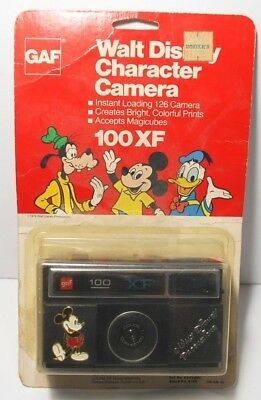 VTG Mickey Mouse Walt Disney Character Camera GAF 100XF 1976 Sealed