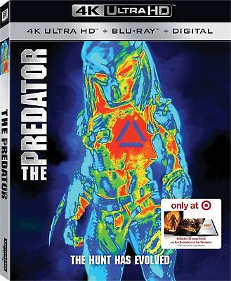 THE PREDATOR 2018 4K UHD/Blu-ray + Digital Target Exclusive With Book, Brand New